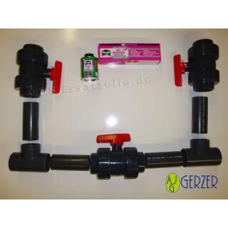 Umschalteinheit-Set für Solaranlagen oder Wärmepumpen für Ihr Schwimmbad (ohne Klebestutzen)