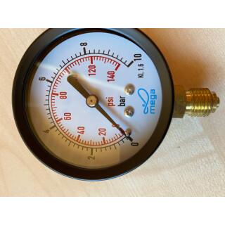 """Manometer 10 BAR 1/4"""" 63 mm"""